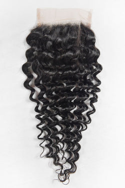 Premium Handmade Virgin Remy Jerry Curly Closure