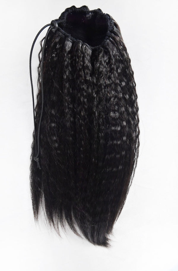 Luxurious Virgin Remy Yaki Straight Wave Ponytail
