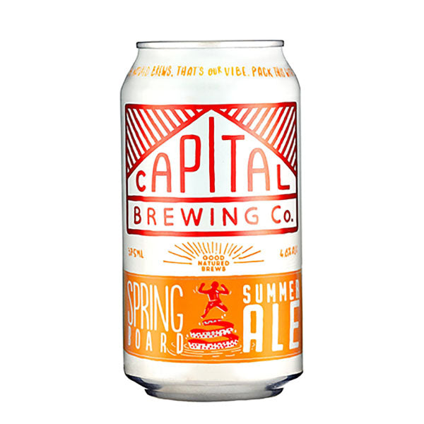 Capital Brewing Co. Springboard Summer Ale Cans 375mL - Pack Of 24