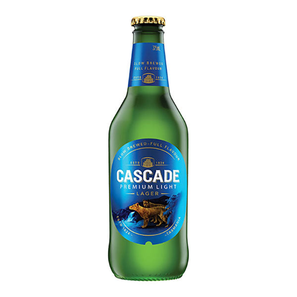 Cascade Premium Light Beer Bottle 375ml