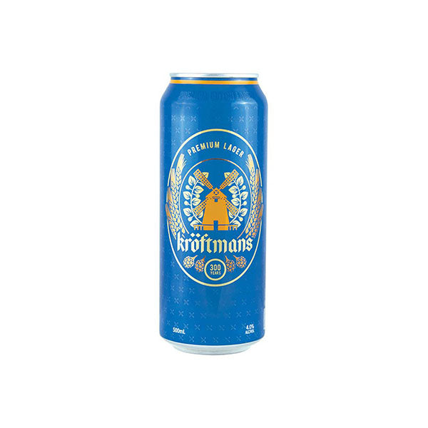 Kroftmans Lager Cans 500ml - Pack of 24