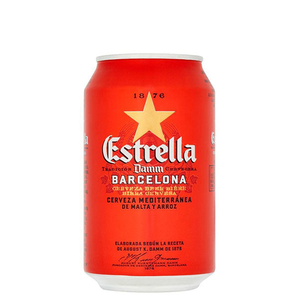 Estrella Damm Cans 330ml - Pack of 24