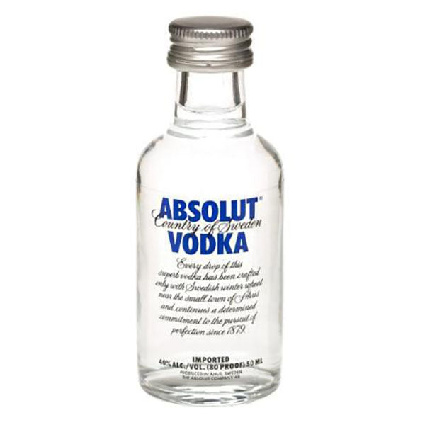 Absolut Vodka Mini Flavour Mix, 50mL