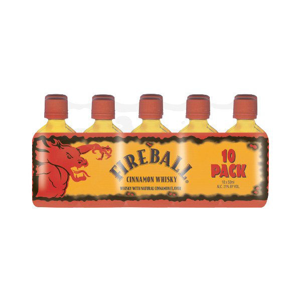 Fireball Cinnamon Whiskey 50ml 10 Pack