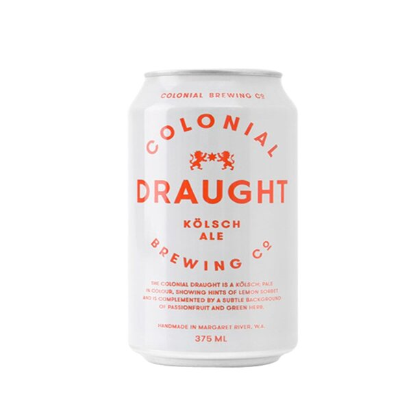 Colonial Brewing Co. Draught Kolsch Ale Cans 375ml - Pack of 24