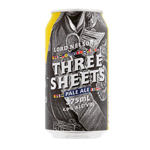 Lord Nelson Three Sheets Pale Ale Cans 375ml