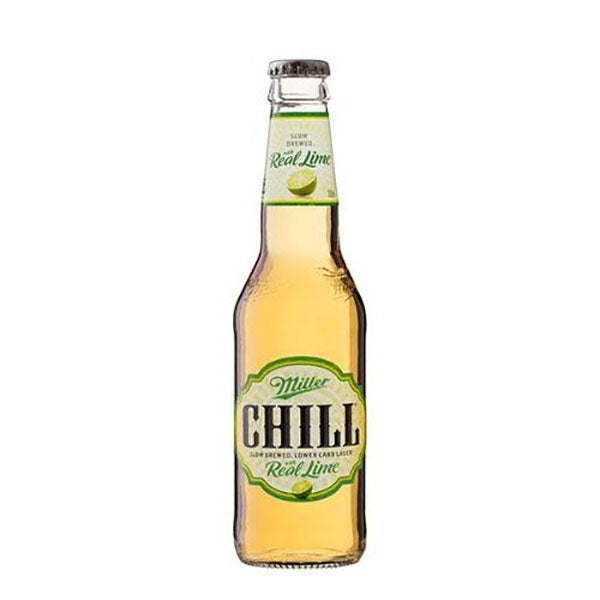 Miller Chill with Lime Lager Bottles 330ml - Pack of 24