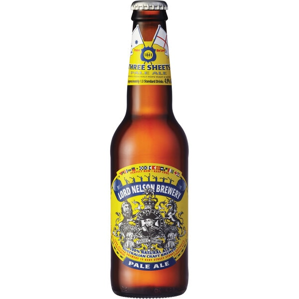 Lord Nelson Three Sheets Pale Ale Bottles 330ml