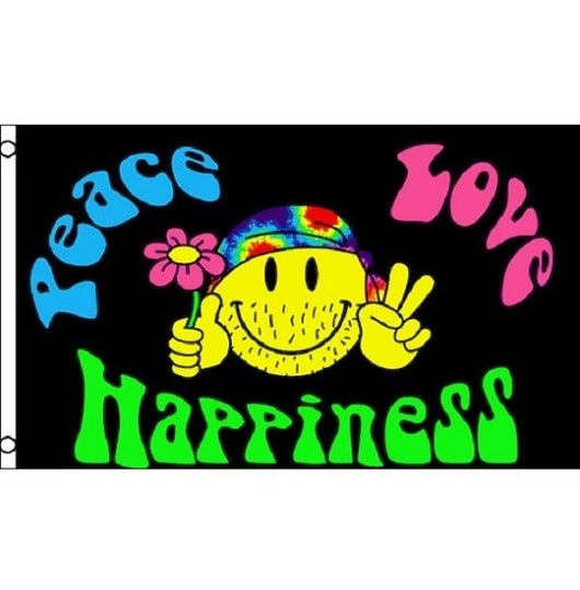 Peace Love Happiness Flag 60