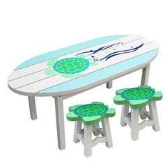 Sea Turtle Table with 2 Seats