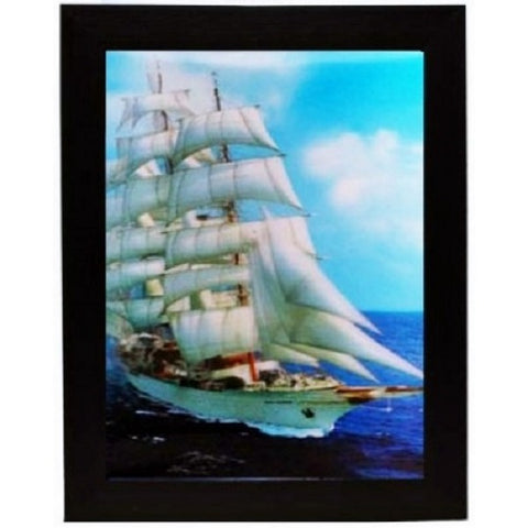 3D Lenticular Picture Frame Sail Ship