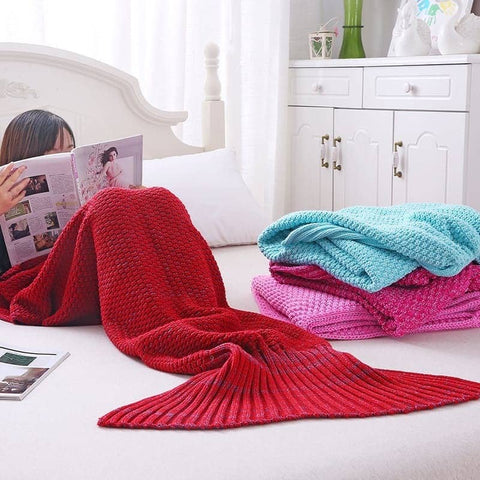 Mermaid Tail Blanket - Adult, Knit