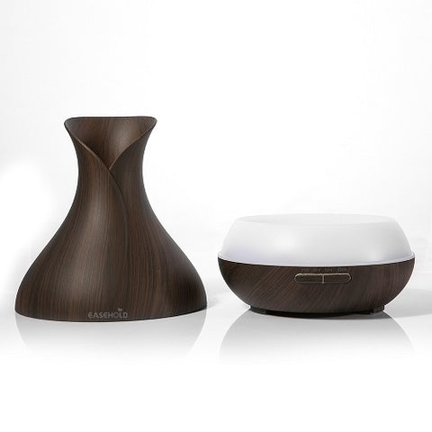 Ultrasonic Aromatherapy Humidifier with Colorful Lights Wood Grain