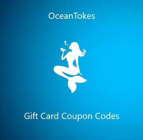 OceanTokes Gift Cards - Birthdays, Holidays, Special Occasions or Save For Later