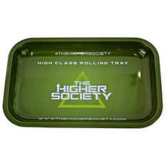 "The Higher Society Metal Rolling Tray - Small 10.75"" x 6.75"""