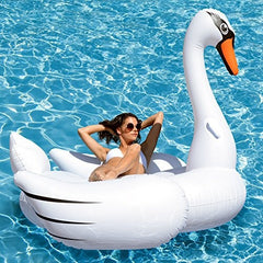 Giant Swan Pool Float; 78