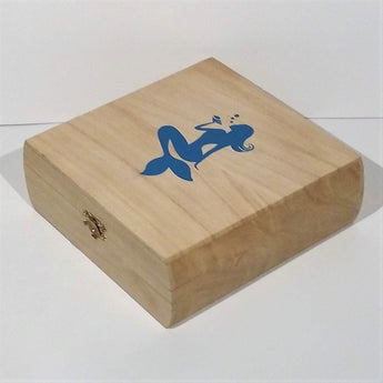 OceanTokes Mermaid Wooden Craft Box