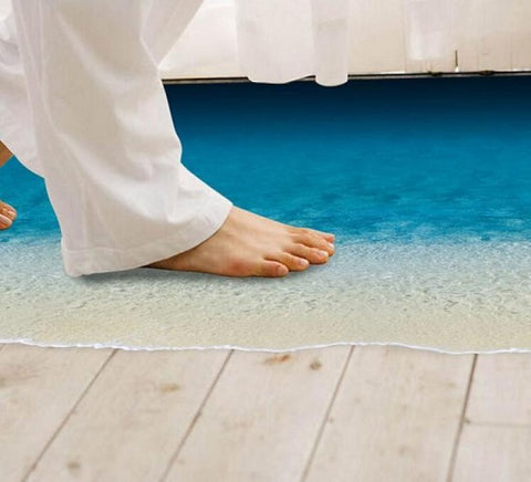Beach Floor Adhered Waterproof Removable Wall and Floor Sticker