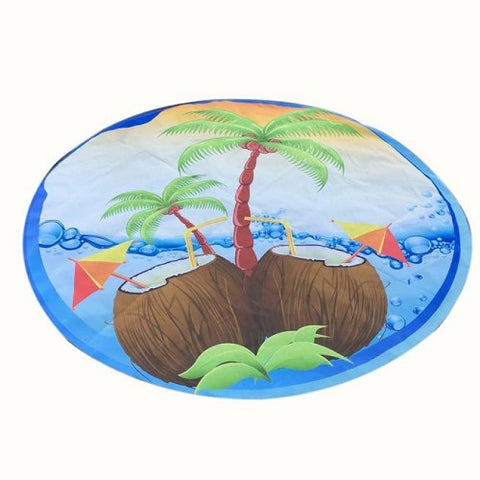 Round Hippie Tapestry Beach Throw Roundie Mat 59""