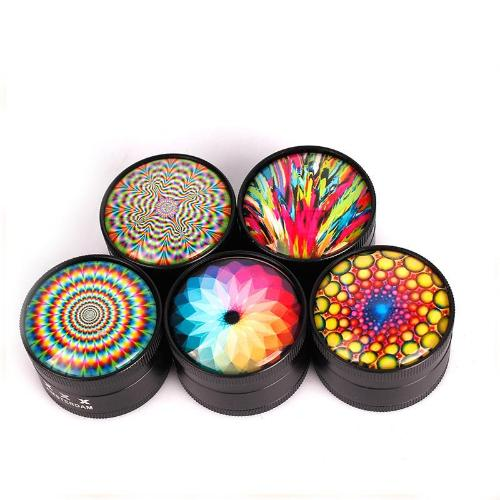 3 piece Multi Design Metal Herb Grinder - 50mm