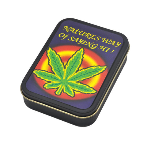 Reggae Rasta Metal Tobacco Box Keep Case (Style Options Available)