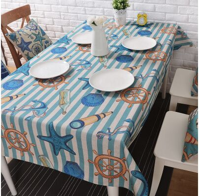 Ocean Winds Creative Linen Tablecloth (Style Options Available)