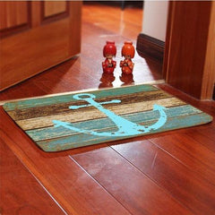 Nautical Anchor Non-Slip Doormat  Floor Mat Rug (Size Options Available)