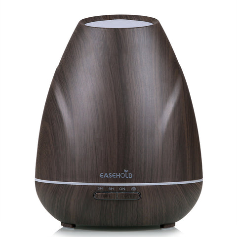 Essential Oil Diffuser Wood Grain Ultrasonic Cool Mist Humidifier with LED Lights