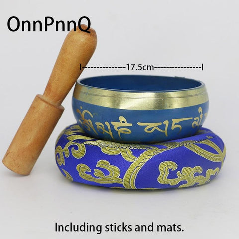 Tibetan Singing Bowl - Includes Stick and Mat
