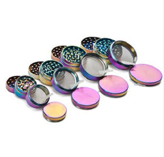 4-Layer Rainbow Color Metal Herb Tobacco Grinder (Size Options Available)