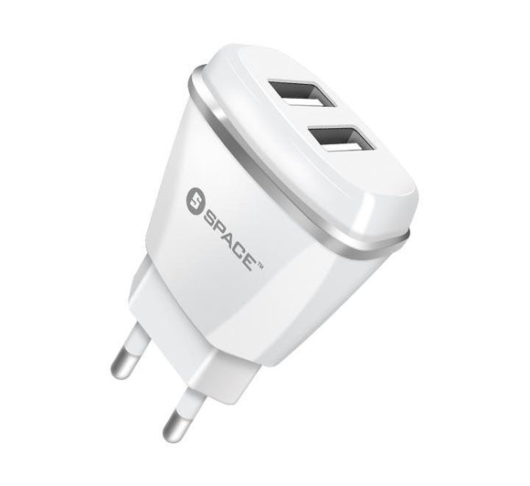 SPACE Dual Port USB 2.1A Wall Charger WC-113