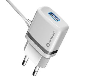 SPACE Micro USB Cable 2.4A Wall Charger