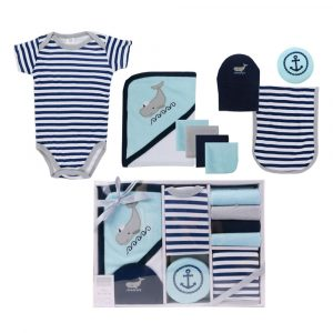Hudson Baby 9 piece Bath Gift Set