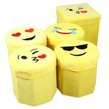 Pack of 2 Emoji Toys Storage Box | 24hours.pk