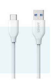 Anker A8163H21 - PowerLine USB-C to USB-A Cable 3ft