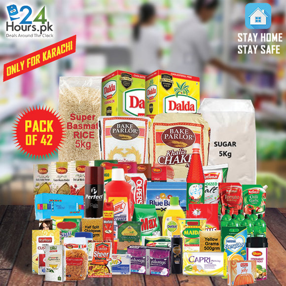 Pack of 42 Home Grocery 2 Weeks Package