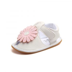 Steperz Pink Flower Sandle Prewalker (With Socks)