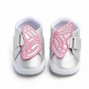 Steperz Silver Pink Butterfly Prewalker (With Socks)