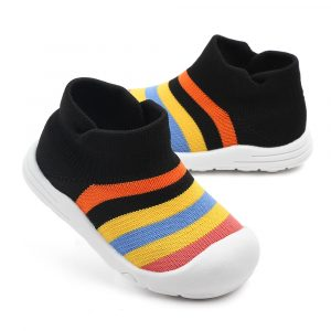 Baby Boys Girls Rainbow Black 18 Size