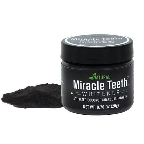 MIRACLE TEETH - Activated Coconut Charcoal Whitening Powder | 24hours.pk