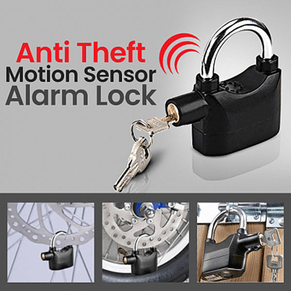 High Quality Anti Theft Motion Sensor Alarm Lock, 110 dba | 24HOURS.PK