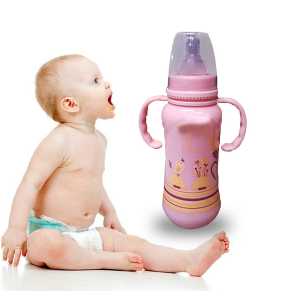 Pack of 2 Baby Feeding Bottle Milk Bottle Pink | 24HOURS.PK