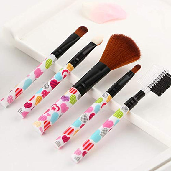 Pack of 2 Makeup Brushes Set  Brush Lip Gloss Eyebrow 5 Pcs | 24HOURS.PK