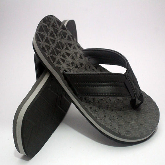 Polygon Design Slipper Black and Grey | 24HOURS.PK