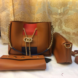 Cross Body Women Bag High Quality Casual Female Bag Brown | 24HOURS.PK