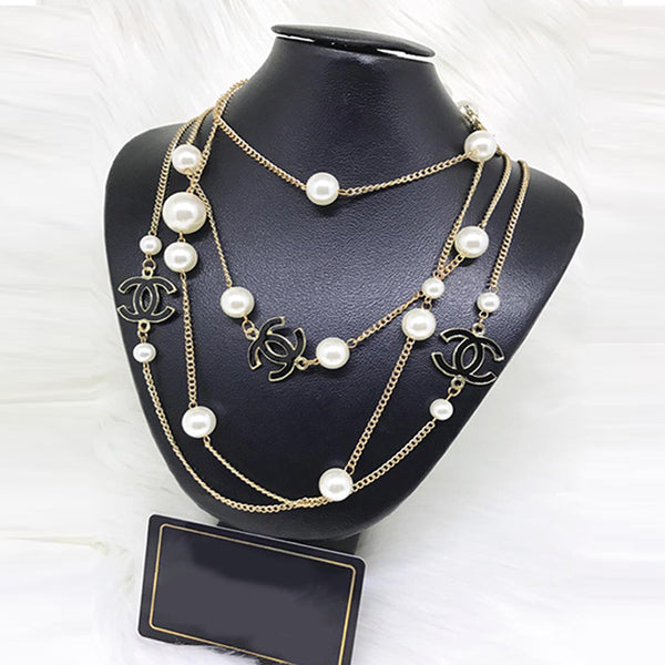 Pearls Necklace with Chain for Women | 24HOURS.PK