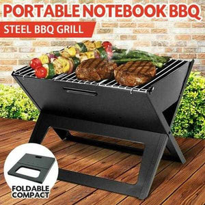 Portable Notebook Grill Foldable Folding Charcoal BBQ Camping Picnic Barbecue (1129) | 24HOURS.PK
