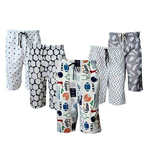 Pack of 5 - Polycotton Assorted Shorts for Men | 24hours.pk