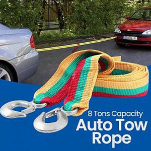 King Tools Auto Tow Rope Width 7.5 Cm Length 4 M, 8 Tons, Multicolor | 24HOURS.PK