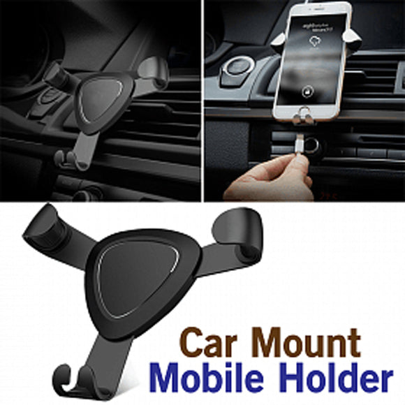 Universal Gravity Metal Air Vent Car Mount Mobile Holder For Smartphones | 24HOURS.PK